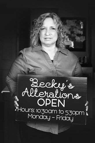 Rebecca Ulloa owner of Becky's Alterations